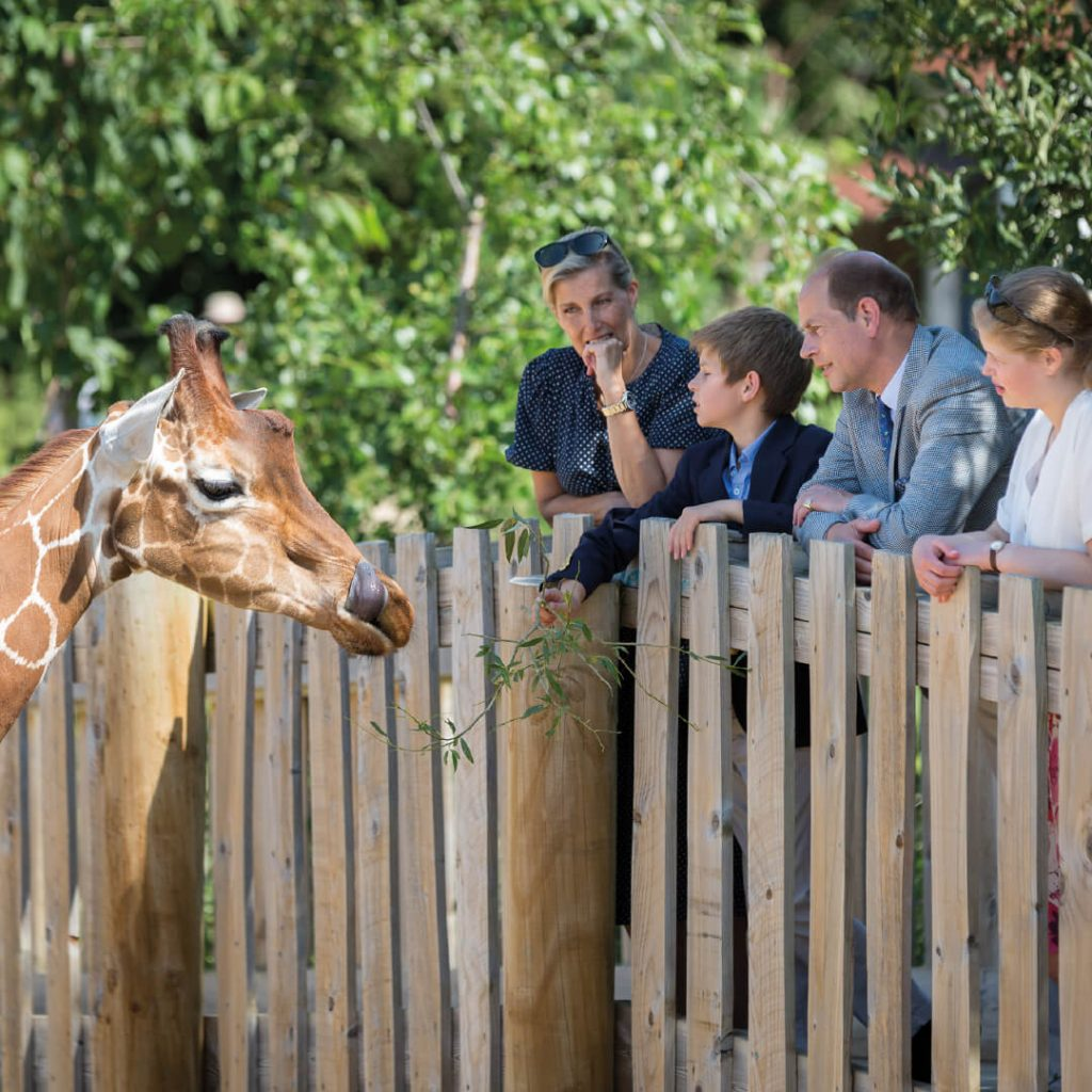 Royal Visit at Wild Place Project