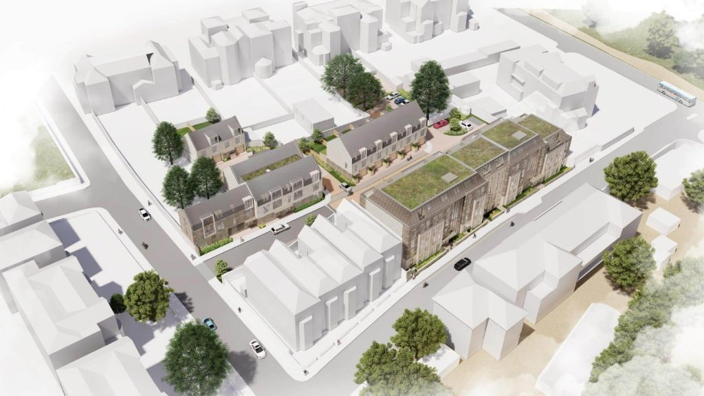 Visualisation of aerial view of West Car Park on College Road