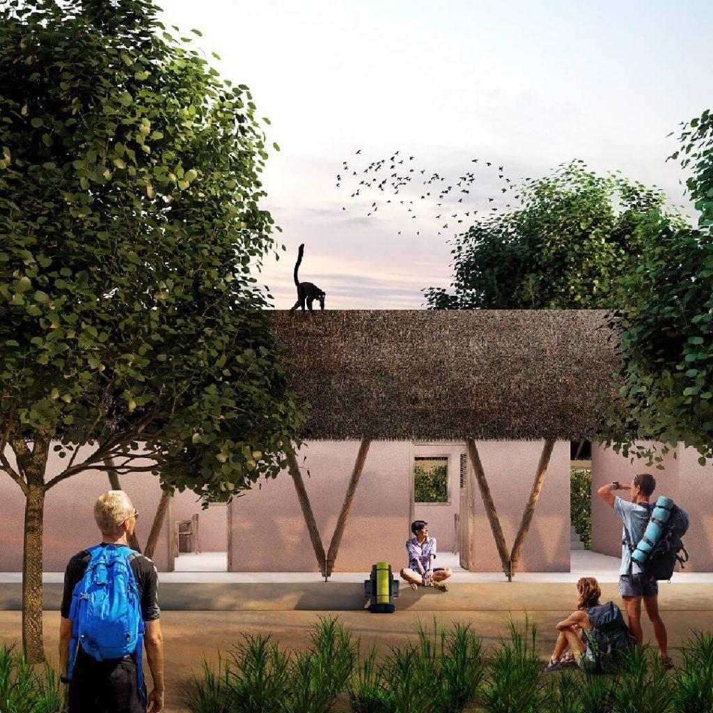 Feilden Clegg Bradley Studios - Ankarafa Field Station in Madagascar visualisation