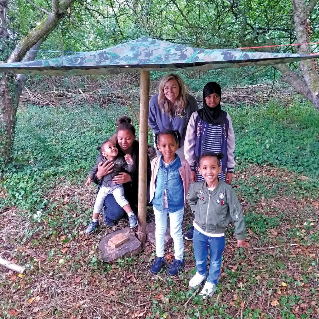 Family from Imayla joining Wild Detectives project at Wild Place Project