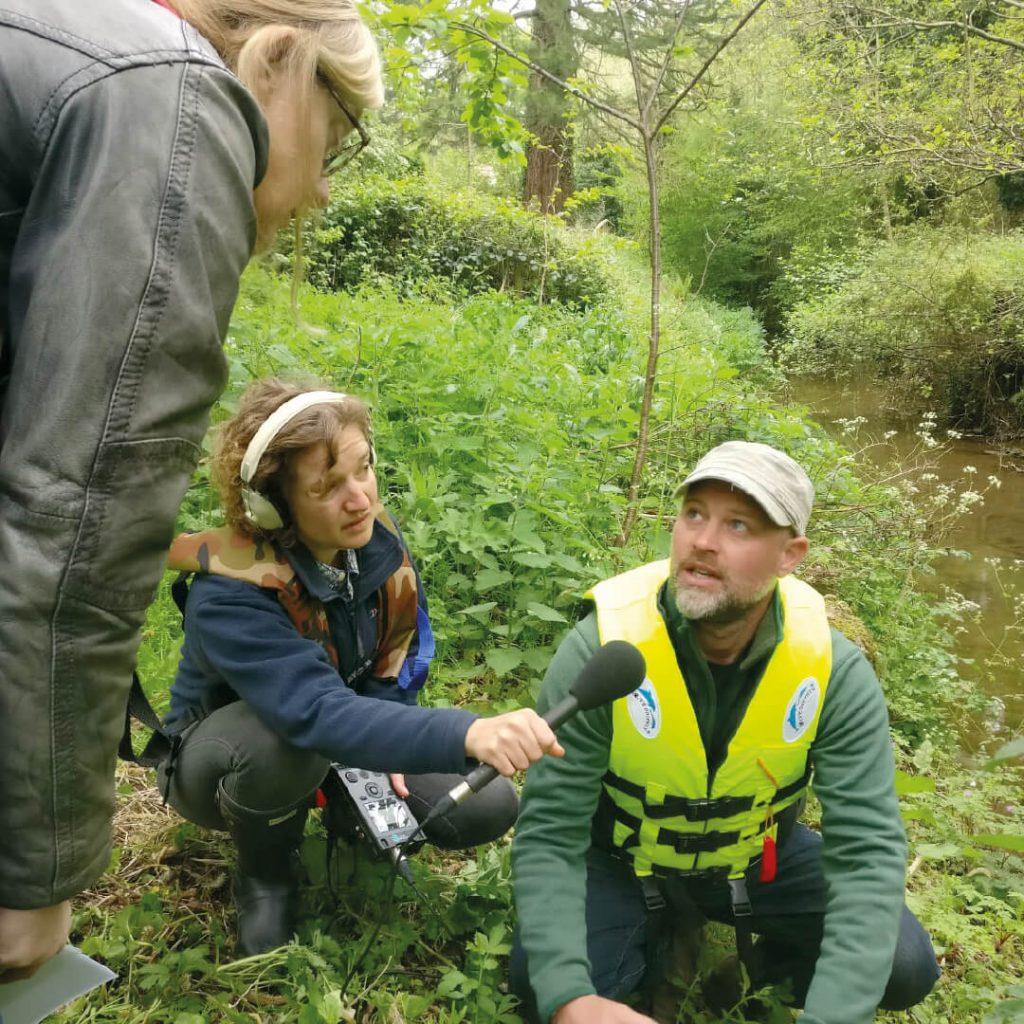 Neil Green being interviewed on invasive weeds